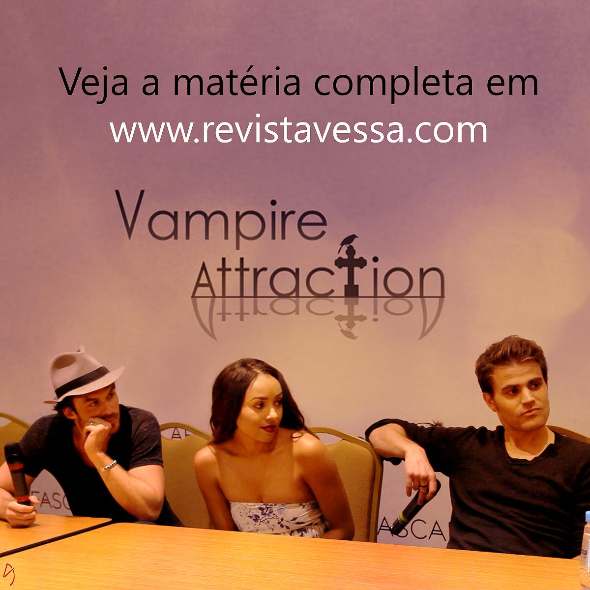 Elenco de The Vampire Diaries participa de evento no Rio de Janeiro